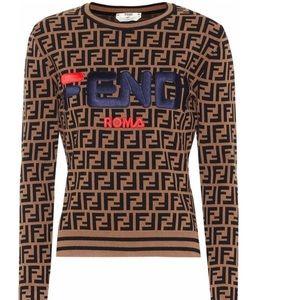 Fendi mania women's sweater